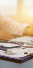 Medical profession at a computer