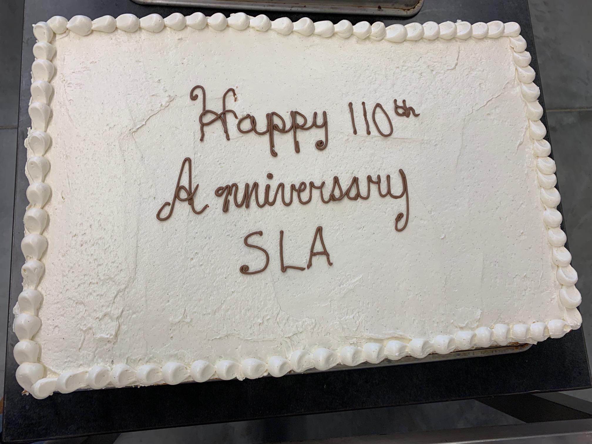 Happy 110th Anniversary SLA!